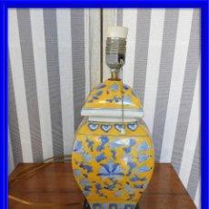 Antigüedades: LAMPARA DE PORCELANA MUY DECORATIVA. Lote 149796546