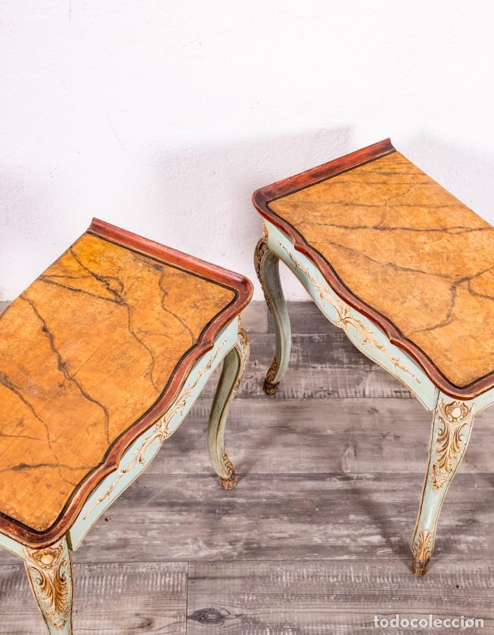 Antigüedades: Pareja De Mesitas Restauradas Silvain - Foto 5 - 149811314