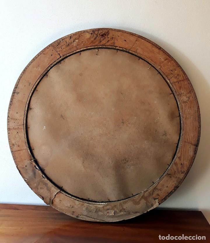 Antigüedades: Gran Espejo Antiguo Años 40. Posiblemente España o Francia. Con decoración en Latón. - Foto 13 - 149811750