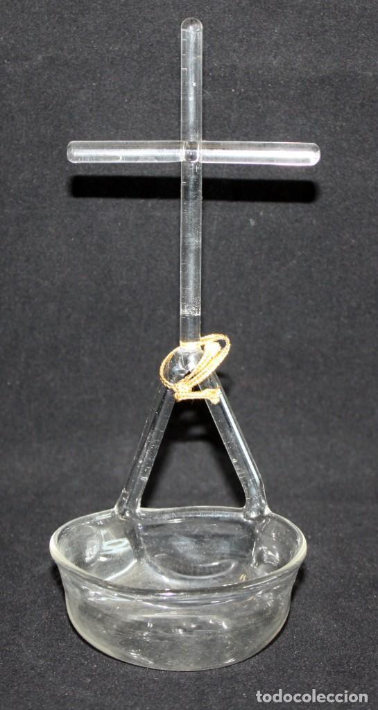 BENDITERA O PILETA CATALANA EN CRISTAL DE PRINCIPIOS DEL SIGLO XX (Antigüedades - Cristal y Vidrio - Catalán)