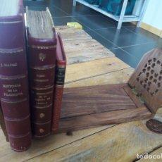 Antigüedades: PRECIOSO SUJETALIBROS DE MADERA, ANTIGUO. EXTENSIBLE. DE 33CM A 47CM APROX.. Lote 149818738