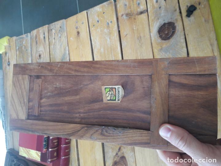 Antigüedades: Precioso sujetalibros de madera, Antiguo. Extensible. de 33cm a 47cm aprox. - Foto 4 - 149818738
