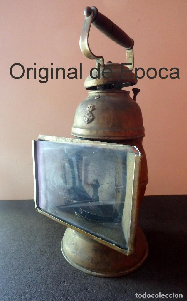 (JX-190207) ANTIGUO FAROL,LINTERNA DE SERENO DE BARCELONA,POLICÍA NOCTURNA,VIGILANTE. (Antigüedades - Iluminación - Faroles Antiguos)
