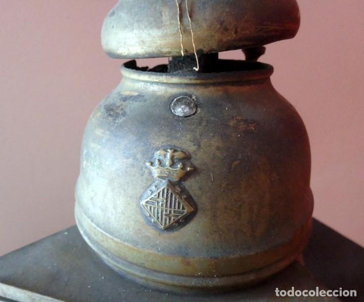 Antigüedades: (JX-190207) Antiguo farol,linterna de Sereno de Barcelona,Policía Nocturna,Vigilante. - Foto 2 - 149837858