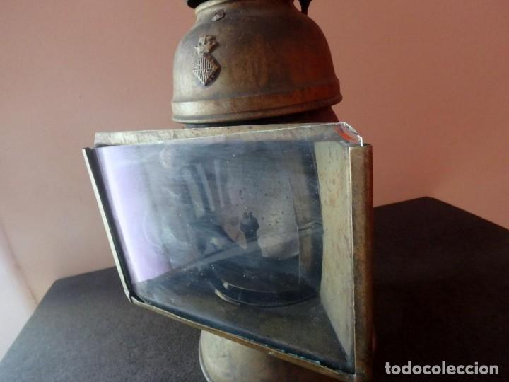 Antigüedades: (JX-190207) Antiguo farol,linterna de Sereno de Barcelona,Policía Nocturna,Vigilante. - Foto 3 - 149837858