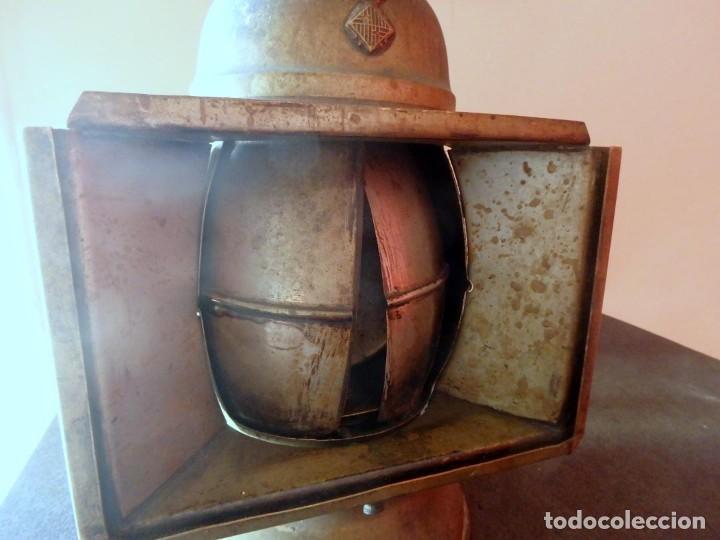 Antigüedades: (JX-190207) Antiguo farol,linterna de Sereno de Barcelona,Policía Nocturna,Vigilante. - Foto 4 - 149837858