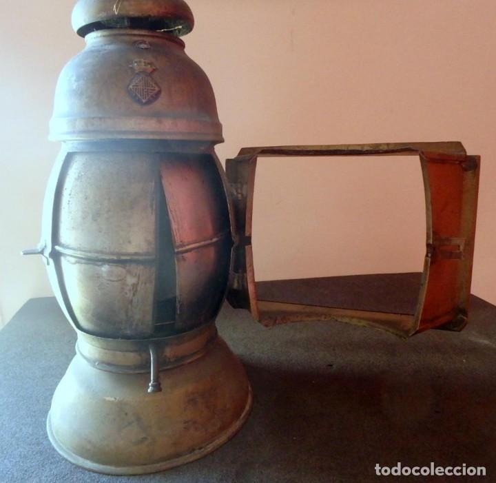 Antigüedades: (JX-190207) Antiguo farol,linterna de Sereno de Barcelona,Policía Nocturna,Vigilante. - Foto 11 - 149837858