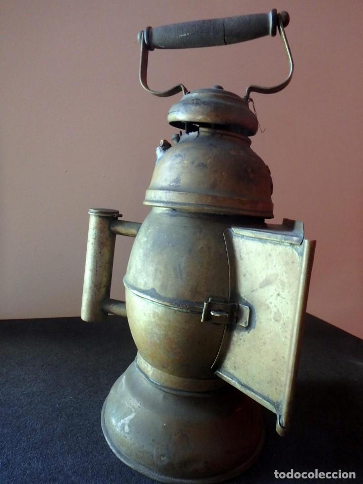 Antigüedades: (JX-190207) Antiguo farol,linterna de Sereno de Barcelona,Policía Nocturna,Vigilante. - Foto 14 - 149837858