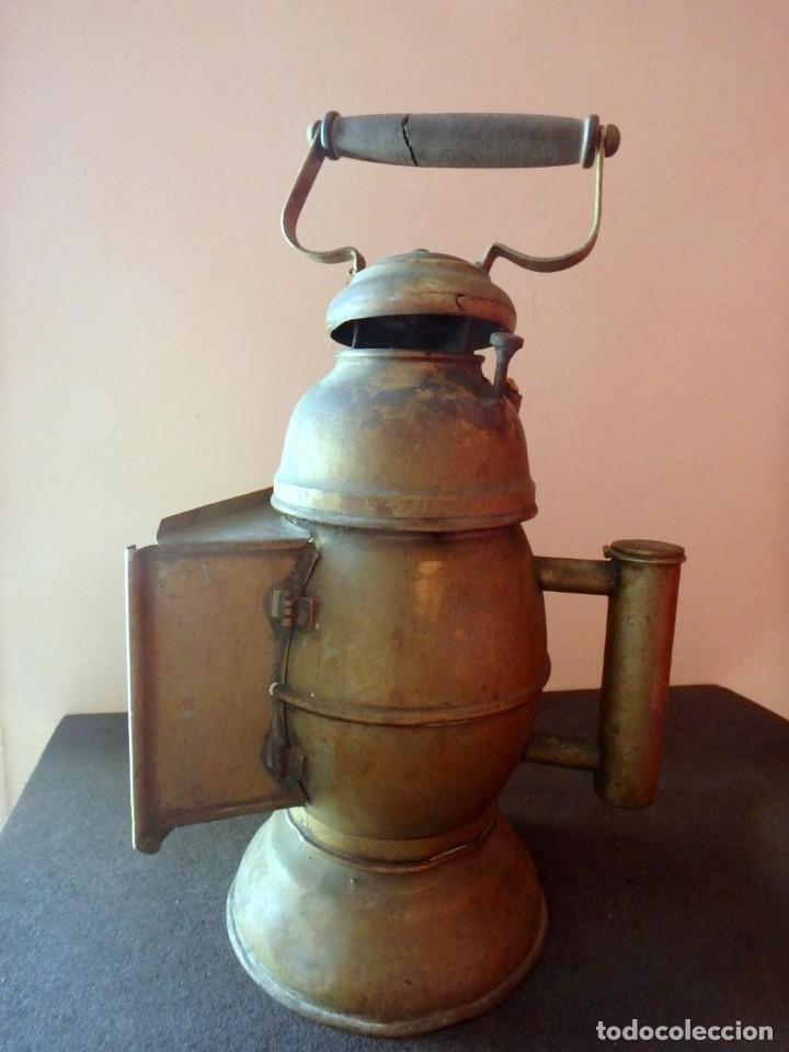 Antigüedades: (JX-190207) Antiguo farol,linterna de Sereno de Barcelona,Policía Nocturna,Vigilante. - Foto 15 - 149837858
