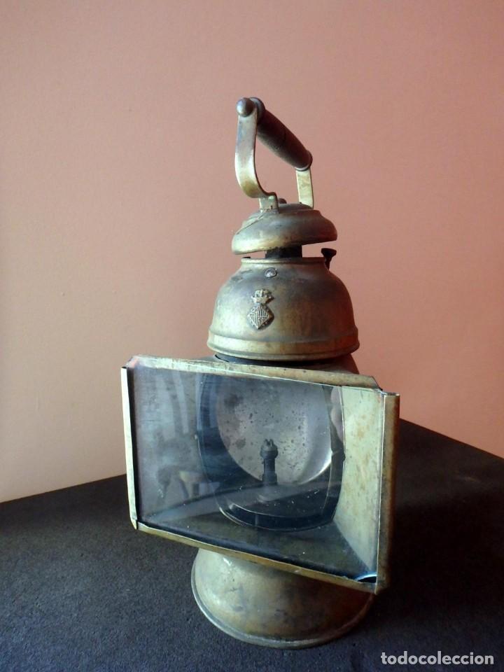 Antigüedades: (JX-190207) Antiguo farol,linterna de Sereno de Barcelona,Policía Nocturna,Vigilante. - Foto 20 - 149837858
