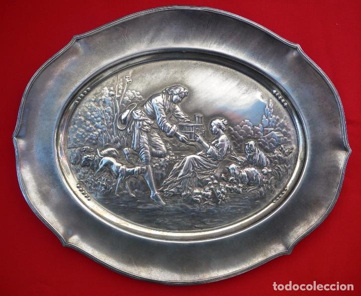 BANDEJA WMF. PIEZA Nº 376 DEL CATÁLOGO DE 1906 ART NOUVEAU (Antigüedades - Hogar y Decoración - Bandejas Antiguas)