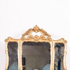 Antigüedades: ESPEJO TOCADOR ANTIGUO. Lote 149847634