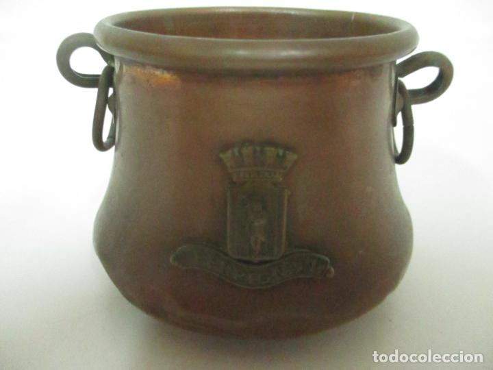 Antigüedades: Olla Miniatura - Cobre - Escudo Perpignan - S. XX - Foto 2 - 149849602