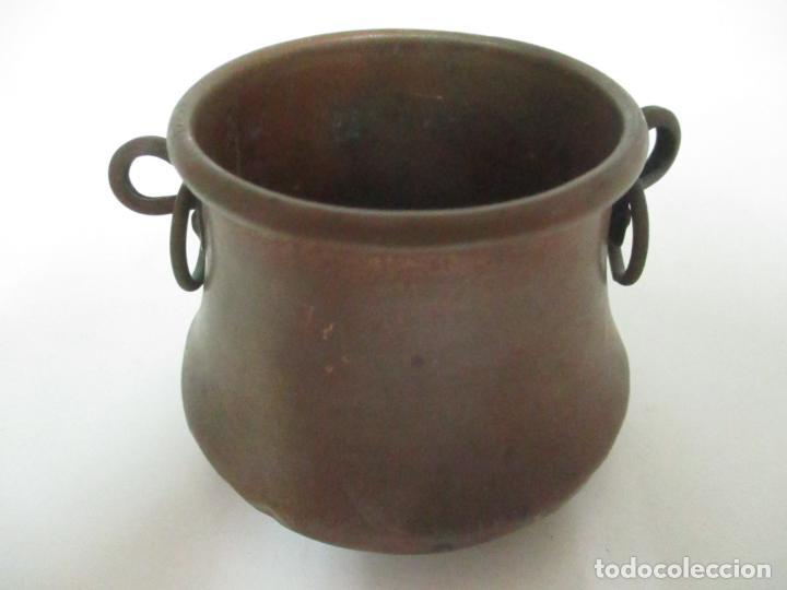 Antigüedades: Olla Miniatura - Cobre - Escudo Perpignan - S. XX - Foto 4 - 149849602