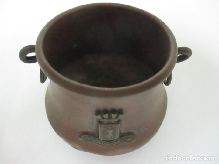 Antigüedades: Olla Miniatura - Cobre - Escudo Perpignan - S. XX - Foto 9 - 149849602