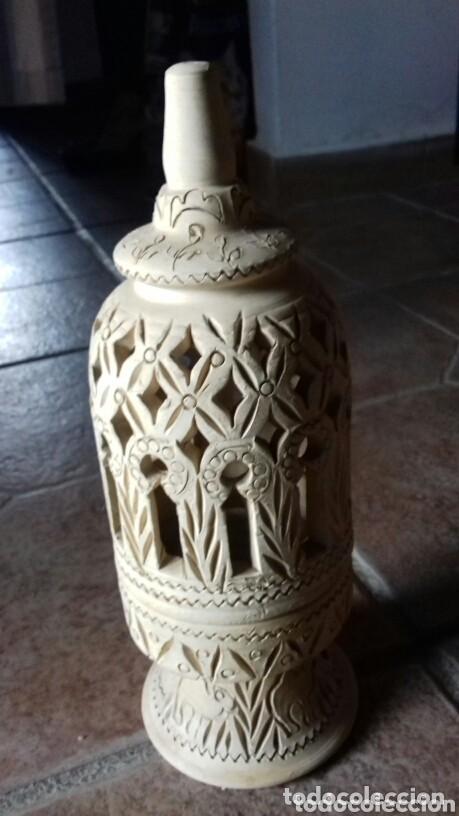 ANTIGUA CERAMICA ARABICA COMPRADA EN UN ZOCO TUNEZ AÑO 80 NO USADO (Antigüedades - Iluminación - Faroles Antiguos)