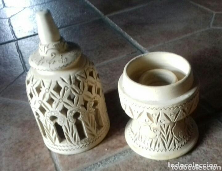 Antigüedades: antigua ceramica arabica comprada en un zoco tunez año 80 no usado - Foto 3 - 149852474