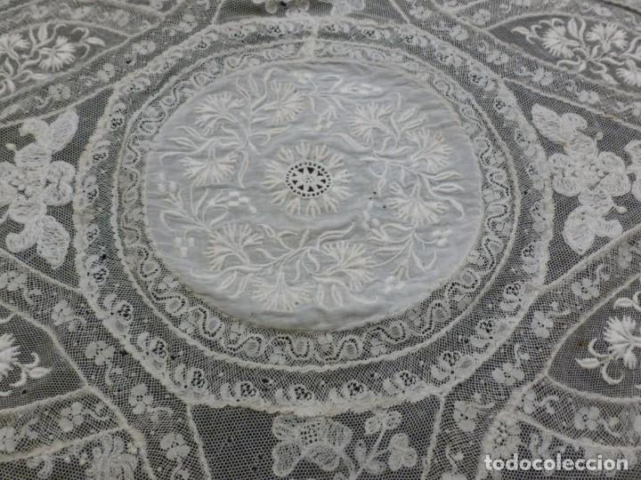 Antigüedades: ANTIGUO TAPETE DE ENCAJE NORMANDÍA - S.XIX - Foto 2 - 149858074