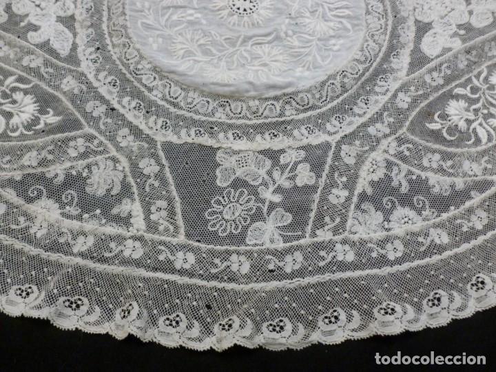Antigüedades: ANTIGUO TAPETE DE ENCAJE NORMANDÍA - S.XIX - Foto 3 - 149858074