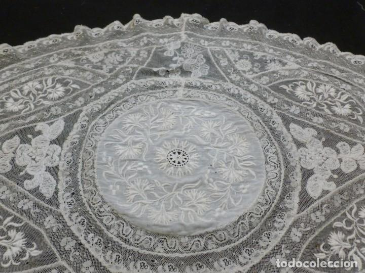 Antigüedades: ANTIGUO TAPETE DE ENCAJE NORMANDÍA - S.XIX - Foto 4 - 149858074