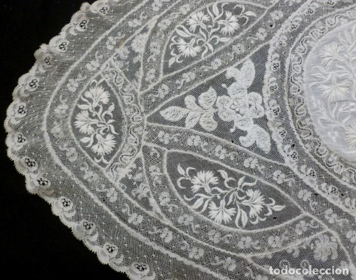 Antigüedades: ANTIGUO TAPETE DE ENCAJE NORMANDÍA - S.XIX - Foto 5 - 149858074