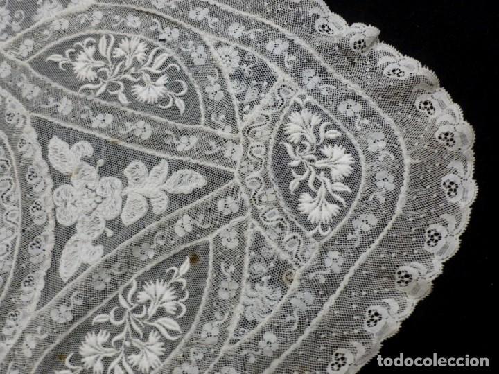 Antigüedades: ANTIGUO TAPETE DE ENCAJE NORMANDÍA - S.XIX - Foto 7 - 149858074