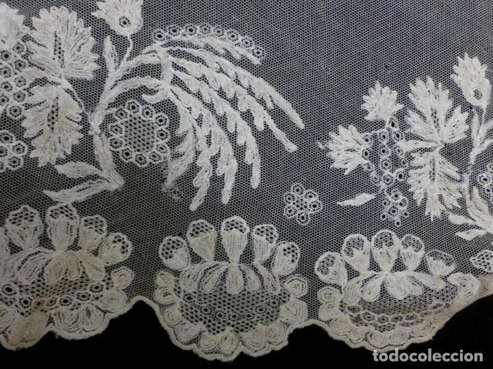 Antigüedades: ANTIGUA MANTILLA DE ENCAJE MANUAL - S. XIX - Foto 8 - 272868568