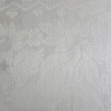 Antigüedades: GRAN MANTEL DE LINO ADAMASCADO - PRINCIPIOS S. XX. Lote 149863430
