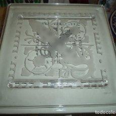 Antigüedades: PLACA DE CRISTAL VENECIANO DIBUJO SALAMANDRA EDICIÓN LIMITADA Y EXCLUSIVA DE LA CAM. Lote 149901102