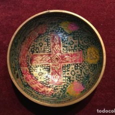 Antigüedades: ANTIGUO PLATO METALICO RELIGIOSO DE LA CAPILLA BETHLEHEM DE PRAGA. Lote 149909374