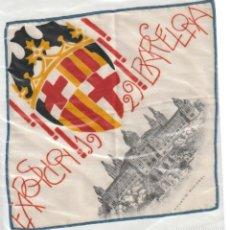 Antigüedades: PAÑUELO DE SEDA DE LA EXPOSICION DE BARCELONA DE 1929 - -D-18. Lote 149921130