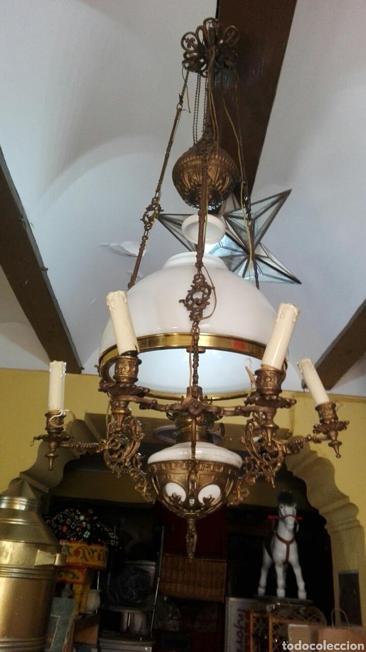 LAMPARA ANTIGUA Y ORIGINAL KOSMOS ELECTRIFICADA (Antigüedades - Iluminación - Lámparas Antiguas)