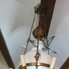 Antigüedades: LAMPARA ANTIGUA Y ORIGINAL KOSMOS ELECTRIFICADA. Lote 141769038