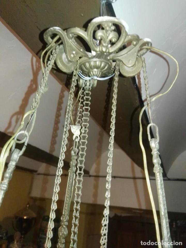 Antigüedades: lampara antigua y original kosmos electrificada - Foto 2 - 141769038