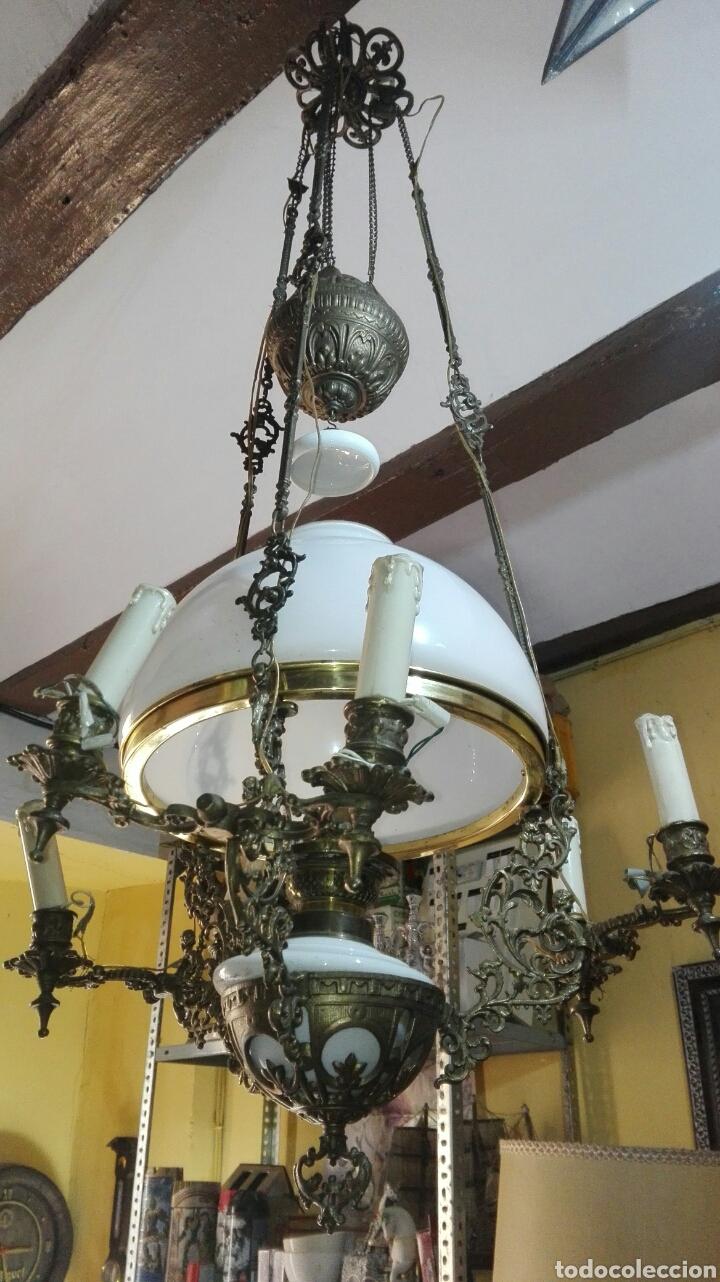 Antigüedades: lampara antigua y original kosmos electrificada - Foto 8 - 141769038