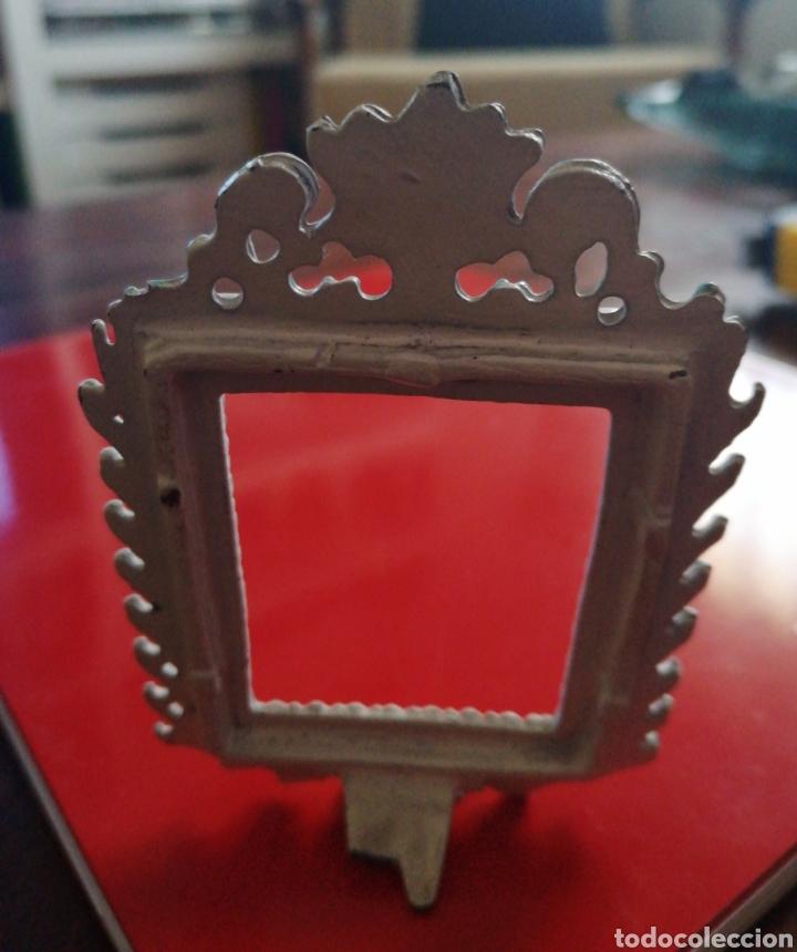 Antigüedades: Marquito metálico - Foto 3 - 149933674