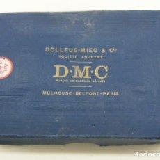 Antigüedades: CAJA DE HILOS DE BORDAR - BLANC AZURE - DMC - DOLLFUS MIEG & CIE . Lote 149937622