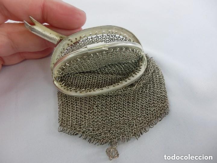 Antigüedades: Monedero de plata en su totalidad, con contraste, vea dentro, boquilla compartimentada en cuatro - Foto 2 - 149943202