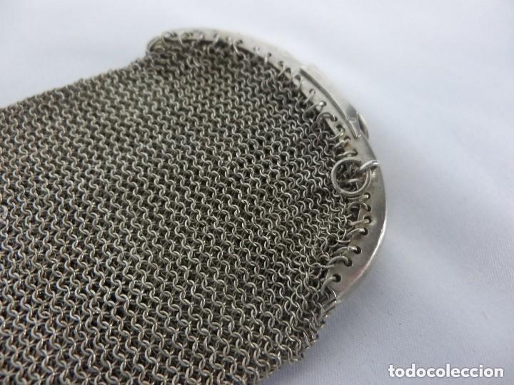 Antigüedades: Monedero de plata en su totalidad, con contraste, vea dentro, boquilla compartimentada en cuatro - Foto 4 - 149943202