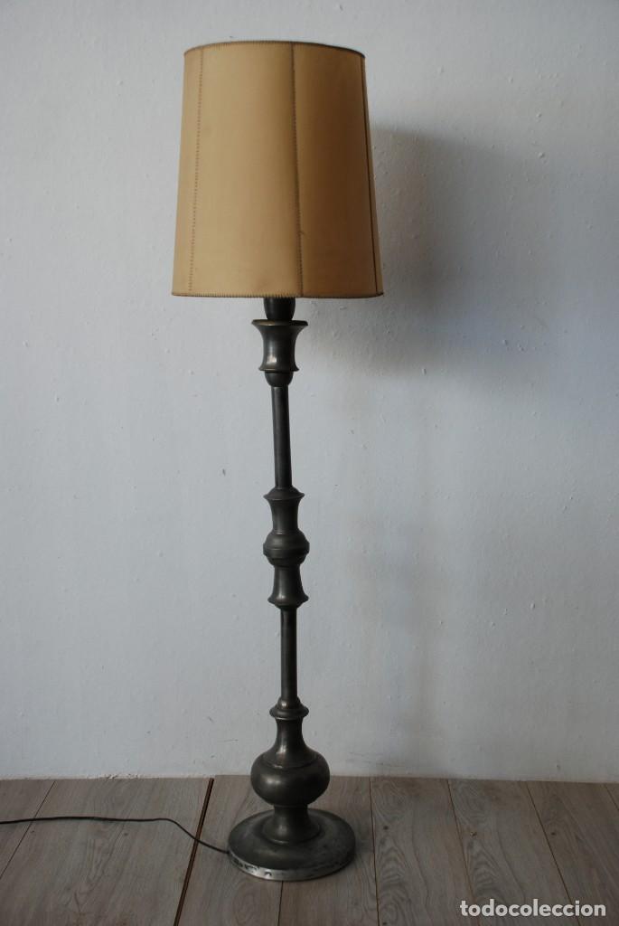 ANTIGUA LAMPARA DE PIE (Antigüedades - Iluminación - Lámparas Antiguas)