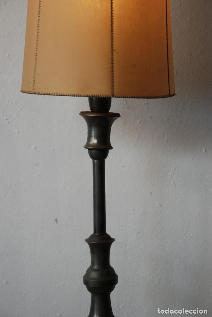 Antigüedades: ANTIGUA LAMPARA DE PIE - Foto 6 - 149956978