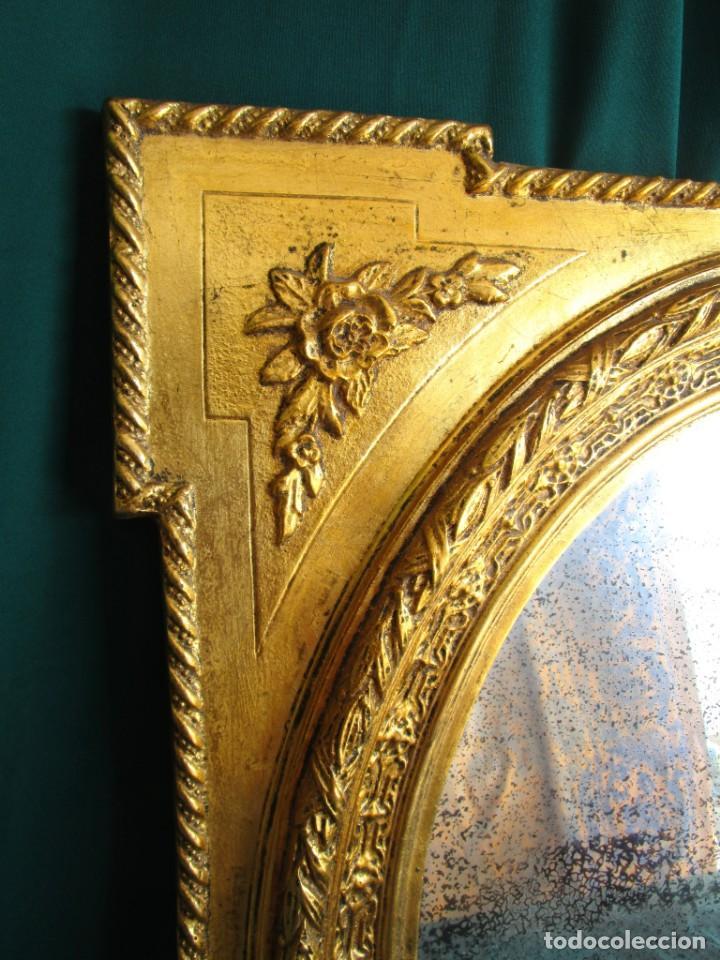 Antigüedades: antiguo espejo isabelino pan de oro restaurado cristal original - Foto 3 - 149959338