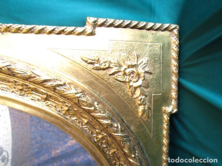 Antigüedades: antiguo espejo isabelino pan de oro restaurado cristal original - Foto 6 - 149959338