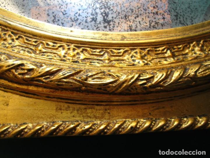 Antigüedades: antiguo espejo isabelino pan de oro restaurado cristal original - Foto 7 - 149959338