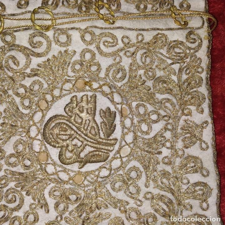 Antigüedades: BOLSA. TERCIOPELO BORDADO CON HILOS DORADOS. TURQUIA (?). XIX-XX - Foto 6 - 149983214
