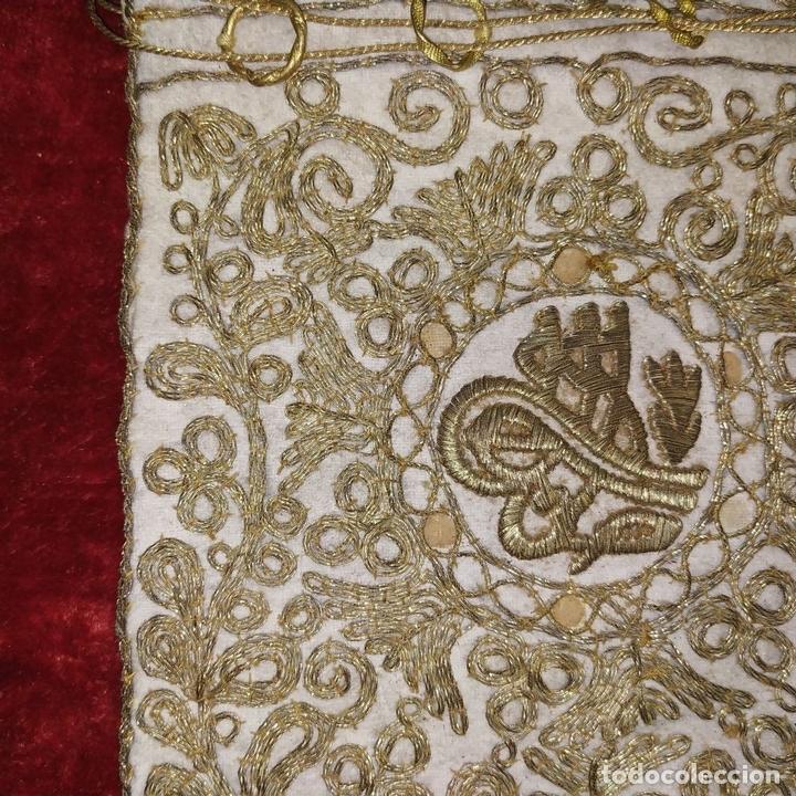 Antigüedades: BOLSA. TERCIOPELO BORDADO CON HILOS DORADOS. TURQUIA (?). XIX-XX - Foto 8 - 149983214