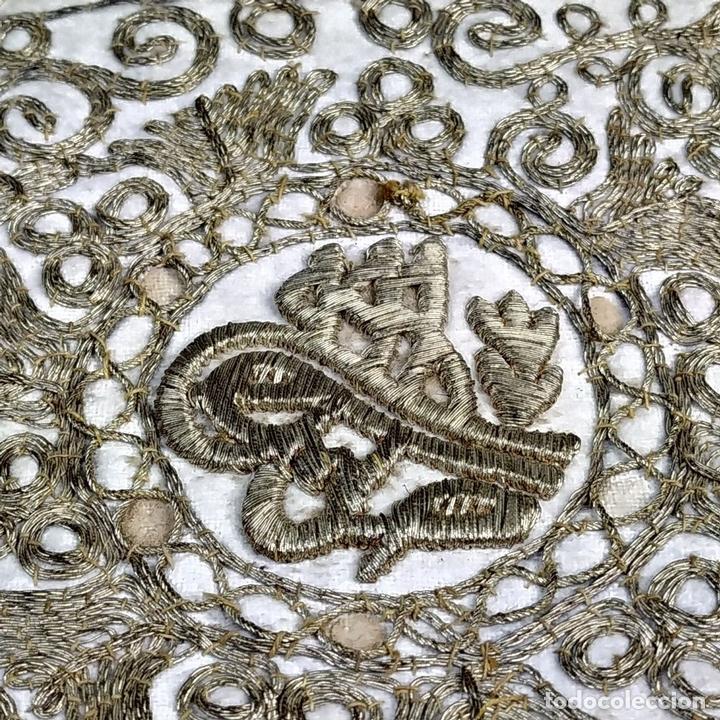 Antigüedades: BOLSA. TERCIOPELO BORDADO CON HILOS DORADOS. TURQUIA (?). XIX-XX - Foto 9 - 149983214