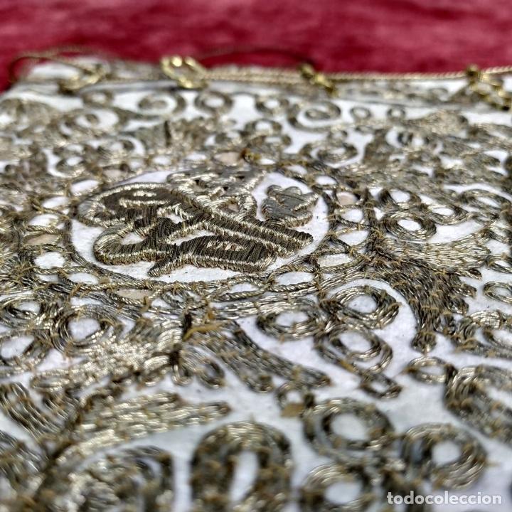 Antigüedades: BOLSA. TERCIOPELO BORDADO CON HILOS DORADOS. TURQUIA (?). XIX-XX - Foto 10 - 149983214