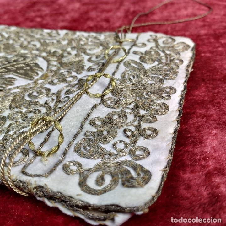 Antigüedades: BOLSA. TERCIOPELO BORDADO CON HILOS DORADOS. TURQUIA (?). XIX-XX - Foto 12 - 149983214