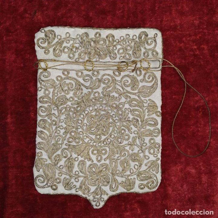 Antigüedades: BOLSA. TERCIOPELO BORDADO CON HILOS DORADOS. TURQUIA (?). XIX-XX - Foto 13 - 149983214